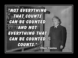 Count on the Things that are Worth Counting