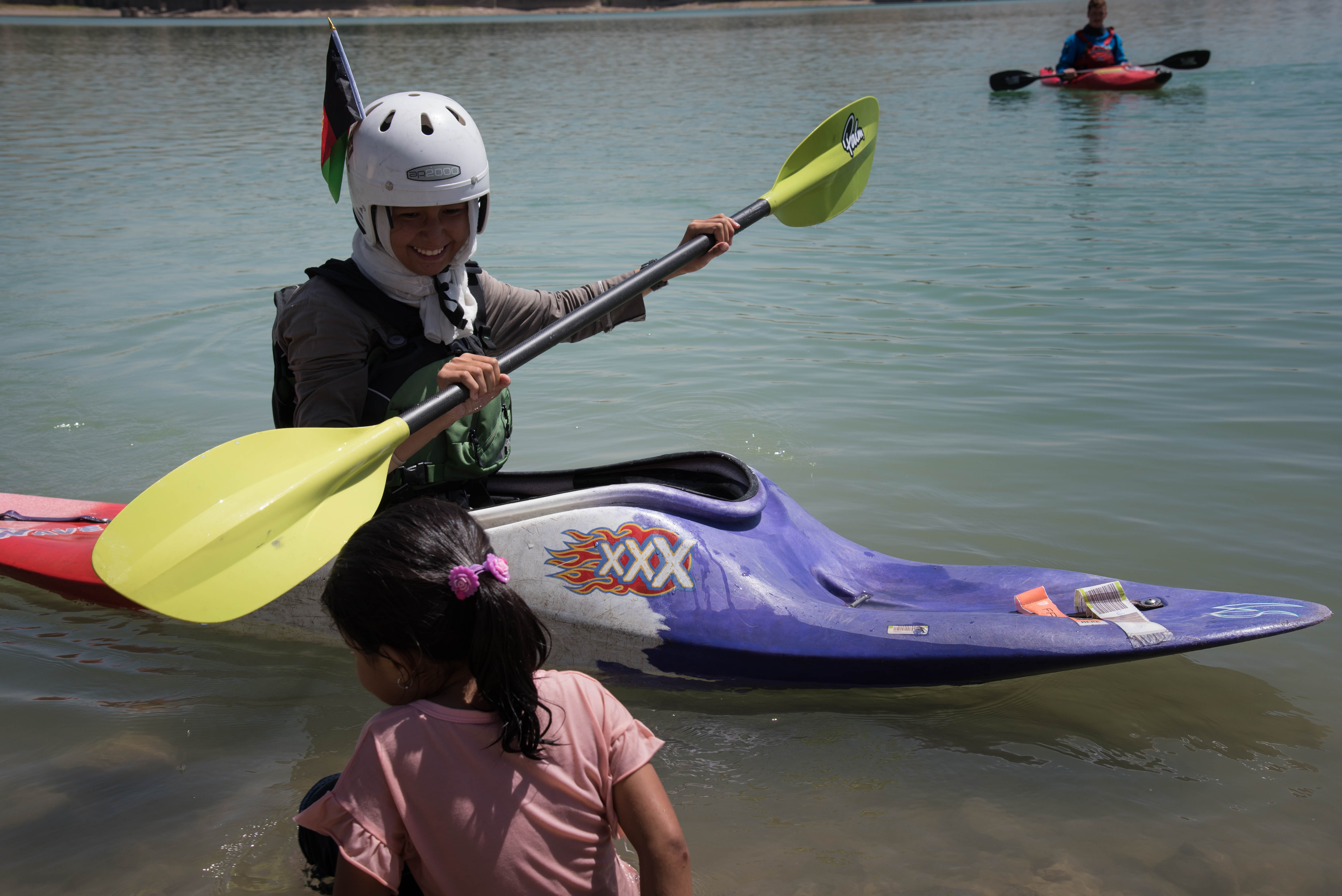 First ever Afghan Women and girls to go Camping and Kayaking